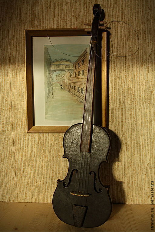 Статуэтки ручной работы. Ярмарка Мастеров - ручная работа. Купить Скрипка. Handmade. Коричневый, масло, гостинная, сосна