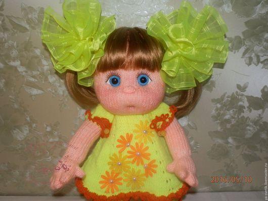 Человечки ручной работы. Ярмарка Мастеров - ручная работа. Купить Девочки. Handmade. Голубой, куклы и игрушки, кукла для детей, бантики