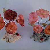 Для дома и интерьера handmade. Livemaster - original item Flowers from natural Ural ornamental stone Selenite. Handmade.