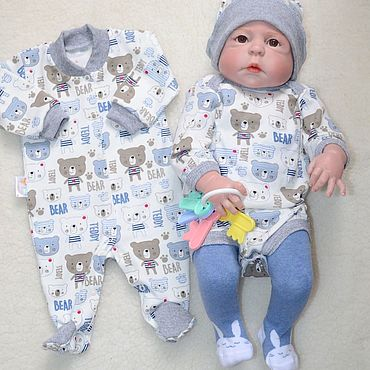 Works for children handmade. Livemaster - original item Set of clothes for baby