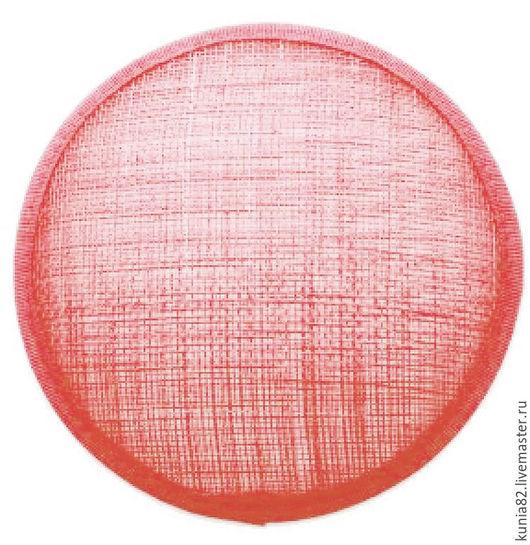 Основа для шляпки, вуалетки, синамей, диаметр 11 см. Цвет: КОРАЛЛ, полуфабрикат для изготовления шляп и головных уборов. Анна Андриенко. Ярмарка Мастеров.