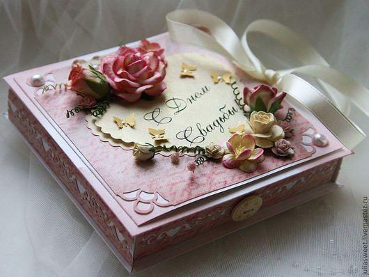"""Конверты для денег ручной работы. Ярмарка Мастеров - ручная работа. Купить Большая коробочка для денег """"Розовый букет"""". Handmade."""