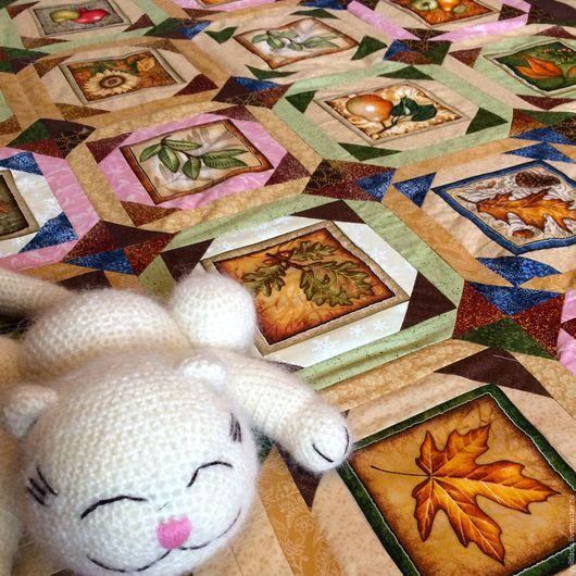 Текстиль, ковры ручной работы. Ярмарка Мастеров - ручная работа. Купить Лоскутное одеяло Дары  осени. Handmade. Пэчворк, одеяло