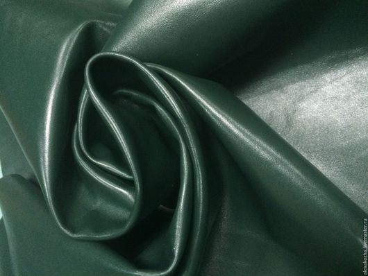 Шитье ручной работы. Ярмарка Мастеров - ручная работа. Купить Кожа натуральная Наппа Люкс темно - зеленая. Handmade. Турция