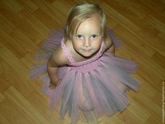 """Одежда для девочек, ручной работы. Ярмарка Мастеров - ручная работа. Купить Авторское детское платье """"Розовый лебедь"""". Handmade. Розовый"""