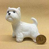 Figurines handmade. Livemaster - original item West Highland White Terrier porcelain figurine. Handmade.