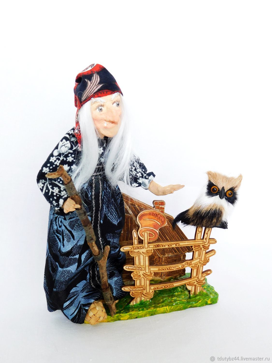BABA YAGA author's collectible doll, Dolls, Moscow,  Фото №1