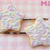 """Украшения ручной работы. Ярмарка Мастеров - ручная работа Заколки """"Star Cookies"""" 2. Handmade."""