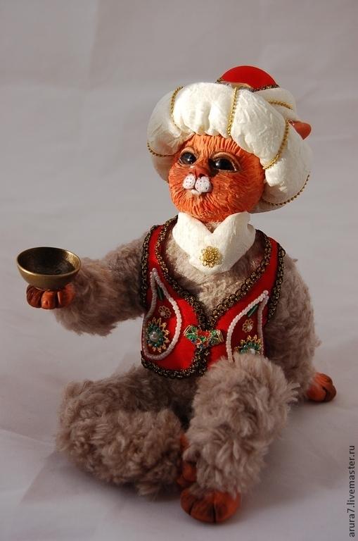 Коллекционные куклы ручной работы. Ярмарка Мастеров - ручная работа. Купить Кот Султан, интерьерная кукла. Handmade. Ярко-красный