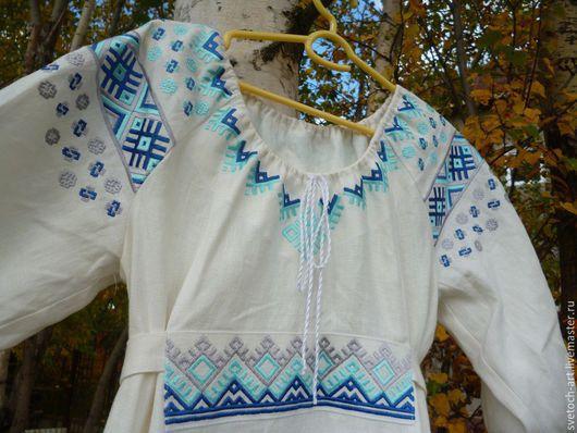 Одежда ручной работы. Ярмарка Мастеров - ручная работа. Купить Праздничное женское платье. Handmade. Белый, лён 100%