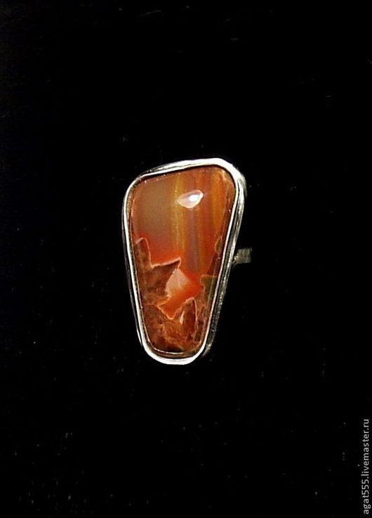 Кольца ручной работы. Ярмарка Мастеров - ручная работа. Купить перстень с сардониксом. Handmade. Разноцветный, перстень с камнем