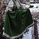 Одежда ручной работы. Ярмарка Мастеров - ручная работа. Купить Подгрудный сарафан на пояске. Handmade. Зеленый, народный костюм