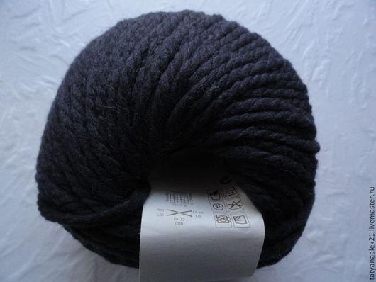 Вязание ручной работы. Ярмарка Мастеров - ручная работа. Купить Пряжа Rowan Big Wool № 007 Smoky. Handmade.