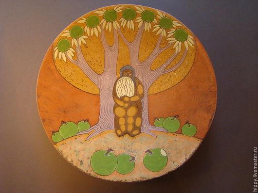 """Тарелки ручной работы. Ярмарка Мастеров - ручная работа. Купить Керамическое блюдо """"Осень в раю"""".. Handmade. Рыжий, декоративная посуда"""