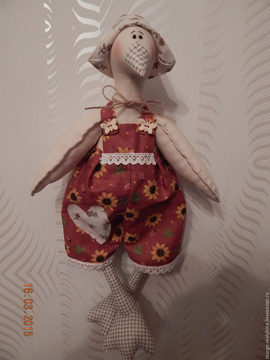 Куклы Тильды ручной работы. Ярмарка Мастеров - ручная работа. Купить Гусик пасхальный, тильда. Handmade. Комбинированный, тильды