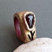 Украшения ручной работы. Ярмарка Мастеров - ручная работа кольцо из полимерной глины Тюльпан. Handmade.
