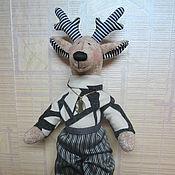 Мягкие игрушки ручной работы. Ярмарка Мастеров - ручная работа Кукла лось папа. Handmade.