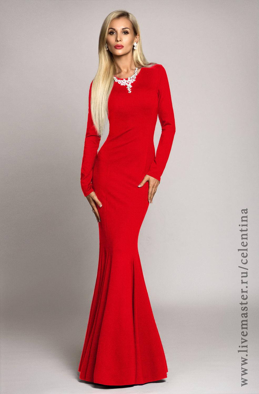 Вечернее платье красное москва