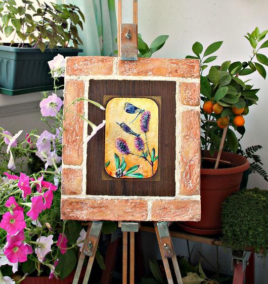 Картины цветов ручной работы. Ярмарка Мастеров - ручная работа. Купить Картина - панно художественное Стрекозы. Handmade. Комбинированный, стрекозы