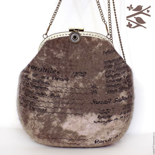 """Женские сумки ручной работы. Ярмарка Мастеров - ручная работа. Купить Сумочка """"Письмо"""". Handmade. Бежевый, сумка на каждый день"""