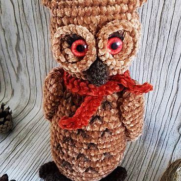Куклы и игрушки ручной работы. Ярмарка Мастеров - ручная работа Мягкие игрушки: Совушка. Handmade.
