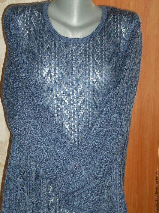 Кофты и свитера ручной работы. Ярмарка Мастеров - ручная работа. Купить Пуловер для КСЕНИИ. Handmade. Голубой, пуловер женский