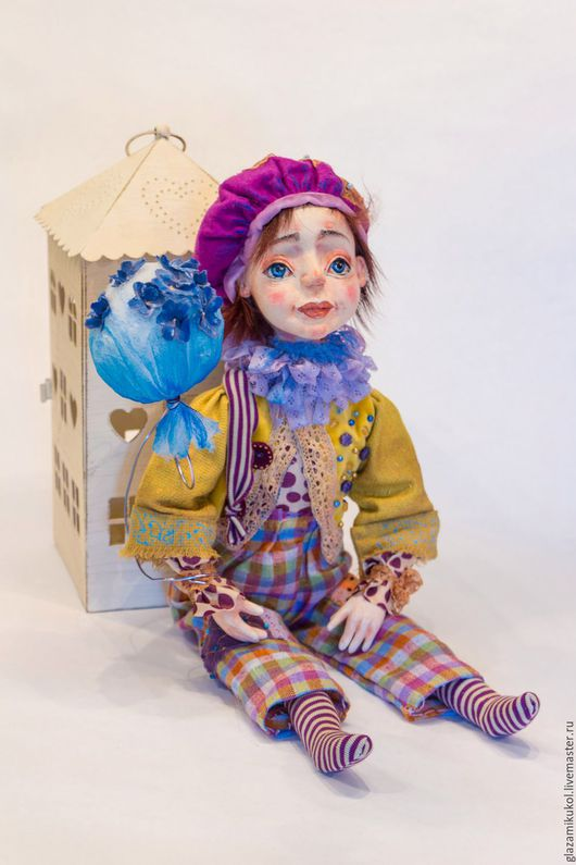 Коллекционные куклы ручной работы. Ярмарка Мастеров - ручная работа. Купить НЕЗАБУДКА  (резерв)Вайке(тихоня). Handmade. Фиолетовый, единственный экземпляр, Ладолл