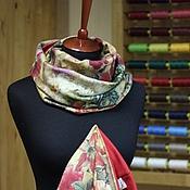 Аксессуары ручной работы. Ярмарка Мастеров - ручная работа Дизайнерский комплект шапочка и снуд Floral Still Life of Old Masters. Handmade.
