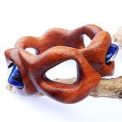 Украшения handmade. Livemaster - original item Bracelet wood sodalite Ellada (pyinkado). Handmade.