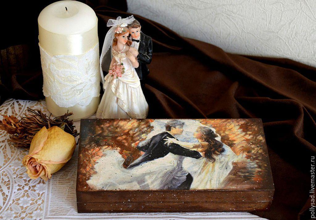 Кухня ручной работы. Ярмарка Мастеров - ручная работа. Купить Купюрница 'Осенний вальс', свадебная купюрница, подарок на свадьбу. Handmade.