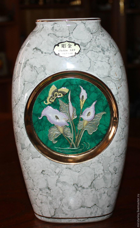 """Винтаж: Красивая ваза для цветов """"Лилии"""" в стиле Art of Chokin, Япония, Винтажные предметы интерьера, Москва, Фото №1"""