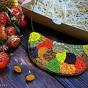 Украшения ручной работы. Ярмарка Мастеров - ручная работа Вышитая подвеска. Handmade.