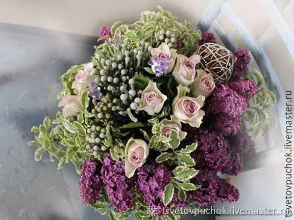 """Букеты ручной работы. Ярмарка Мастеров - ручная работа. Купить Букет """"Сирень"""" , живые цветы. Handmade. Сирень, букет в подарок"""