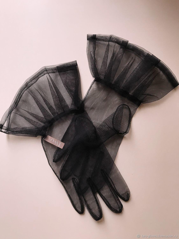 Перчатки из сетки, с баской, Перчатки, Санкт-Петербург,  Фото №1
