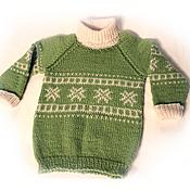 """Работы для детей, ручной работы. Ярмарка Мастеров - ручная работа Детский свитер вязаный  """"Снежинки"""". Handmade."""