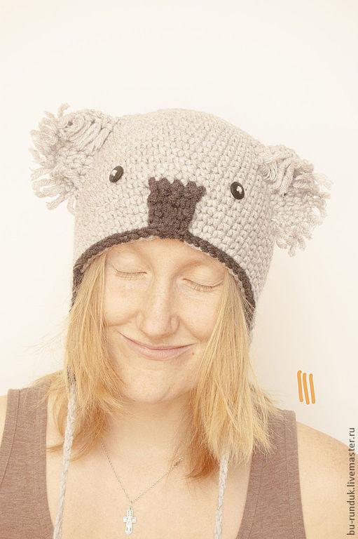 Шапки ручной работы. Ярмарка Мастеров - ручная работа. Купить шапка - коала Валентина. Handmade. Серый, шапка, шапочка