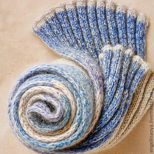 """Шарфы и шарфики ручной работы. Ярмарка Мастеров - ручная работа. Купить Шарф """"Море-песок"""". Handmade. Шарф, шарф теплый"""