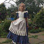 Работы для детей, handmade. Livemaster - original item Dress linen for girls