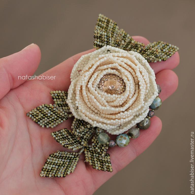 Брошь-цветок из бисера для начинающих мастер класс с пошаговым