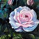 """Картины цветов ручной работы. Ярмарка Мастеров - ручная работа. Купить Картина маслом """"Белая роза"""". Handmade. Роза, белый"""