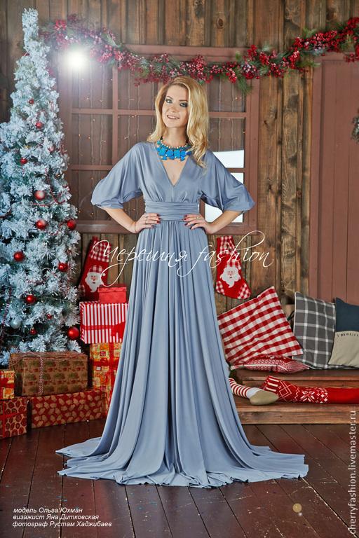 """Платья ручной работы. Ярмарка Мастеров - ручная работа. Купить Платье """"Олимпия"""". Handmade. Серый, длинное платье, Платье на Новый год"""