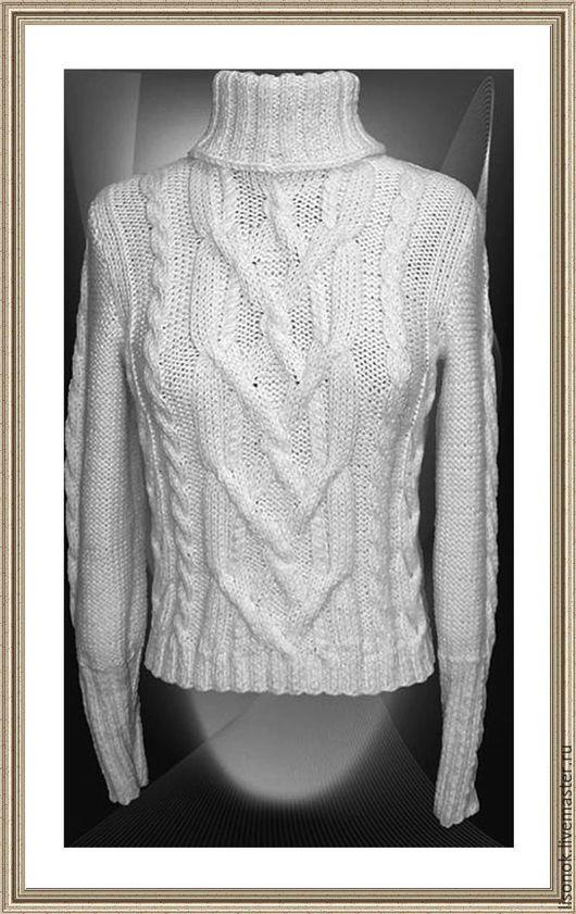 Sweatshirts & Sweaters handmade. Livemaster - handmade. Buy Sweater knitted Snow.Women's sweater, sweater female winter