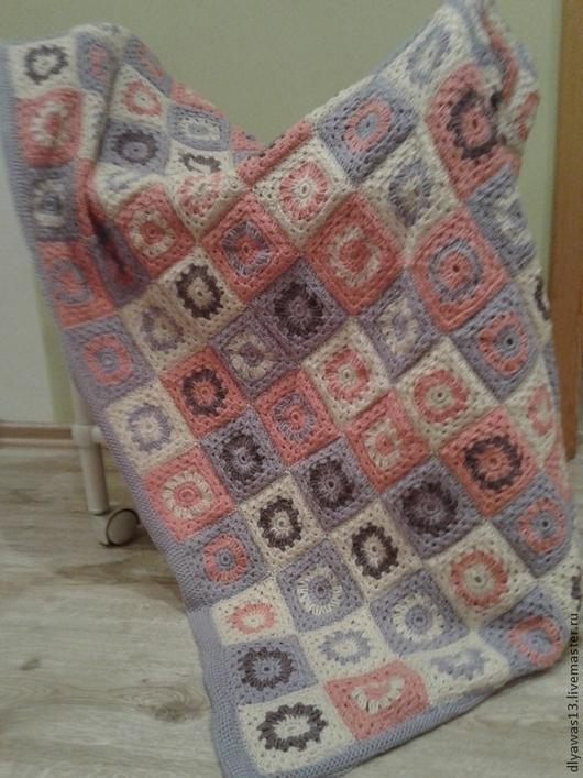 Пледы и одеяла ручной работы. Ярмарка Мастеров - ручная работа. Купить Нежность. Handmade. Сиреневый, уютный подарок
