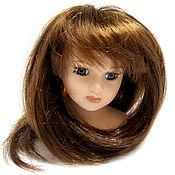 Материалы для творчества ручной работы. Ярмарка Мастеров - ручная работа парик для кукол волосы прямые каштан Д 7 длина 18 см. Handmade.