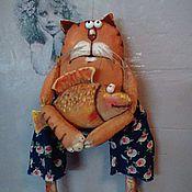 Куклы и игрушки ручной работы. Ярмарка Мастеров - ручная работа Кот ты моя рыбка золотая.... Handmade.