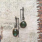 """Украшения ручной работы. Ярмарка Мастеров - ручная работа Серьги с бериллами """"Омут"""". Handmade."""