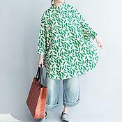 Одежда handmade. Livemaster - original item Shirt with long subatoi clasp with a summer print. Handmade.
