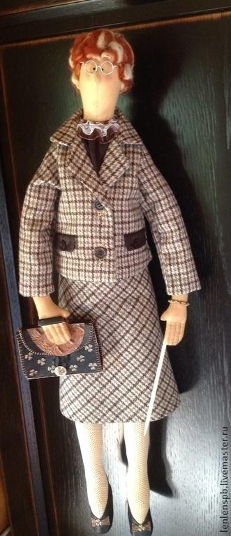 Куклы Тильды ручной работы. Ярмарка Мастеров - ручная работа. Купить Тильда учительница, рост 70 см. Handmade. Коричневый