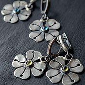 Украшения handmade. Livemaster - original item Earrings silver natural stones, silver earrings. Handmade.
