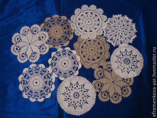 Текстиль, ковры ручной работы. Ярмарка Мастеров - ручная работа. Купить Салфетки мини. Handmade. Белый, Вязание крючком